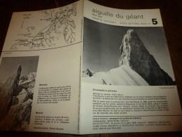 MASSIF Du MONT-BLANC Fiche 5, Par Compagnie Des Guides De Chamonix : AIGUILLE DU GEANT  Face Sud - Other Collections