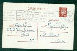 Flamme 15 Aout 42 Paris V Sur EP Pétain, Flamme RBV Un Bon/ De Solidarité/ Ne Se Refuse Pas. - Guerra De 1939-45