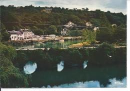 Chateauneuf Du Faou (S.-Finist.)  Les Bords De L'Aulne. Le Pont Du Roy. Vue Sur Le Camping - Châteauneuf-du-Faou