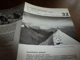 MASSIF Du MONT-BLANC Fiche 32 , Par Compagnie Des Guides De Chamonix : BIONNASSAY L'AIGUILLE  Face Nord-Ouest - Autres Collections