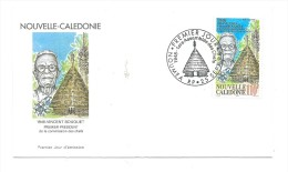 FDC Nouvelle Calédonie - Vincent Bouquet - Oblitération 25/09/1998 Nouméa (1er Jour) - Nieuw-Caledonië