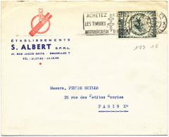 1958 Firmabrief Van  Bruxelles X Naar Paris X Met PZ 1089 Reclamestempel Zie Scan(s) - Belgien