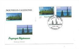 FDC Nouvelle Calédonie - Paysages Régionaux - Oblitération 05/11/1998 Nouméa (1er Jour) - Nieuw-Caledonië