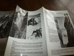 MASSIF Du MONT-BLANC Fiche 35,Cie Des Guides De Chamonix :AIGUILLE DU DIABLE En Traversée Arête S-E Du Mt-Blanc Du Tacul - Autres Collections