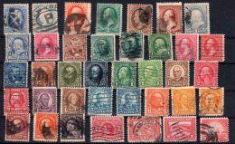 1873 - 19??, Collection De Timbres D'Etats-Unis, Incl. TP Service, Etc, Bonne Valeurs,  16 Scans, Oblitéré, Lot 42207 - Etats-Unis