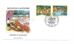FDC Nouvelle Calédonie - Hôtellerie Et Restauration - Oblitération 28/09/1999 Nouméa (1er Jour) - Neukaledonien