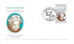 FDC Nouvelle Calédonie - Femmes Calédoniennes : F. Leriche - Oblitération 08/11/2001 Nouméa (1er Jour) - Nouvelle-Calédonie