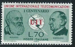 Italia 1965 Nuovo** - U.I.T. - 6. 1946-.. Repubblica