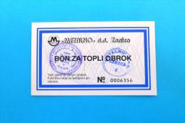 METALNO ZENICA ( Bosnia And Herzegovina ) * Coupon Voucher Bon Buono Vale Gutscheine Vouchers Coupons Bons Buoni Vales - Bosnia And Herzegovina