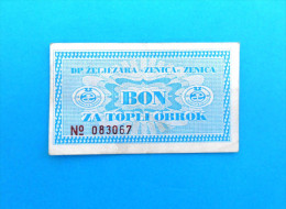 ZELJEZARA ZENICA ( Bosnia And Herzegovina ) * Coupon Voucher Bon Buono Vale Gutscheine Vouchers Coupons Bons Buoni Vales - Bosnia And Herzegovina