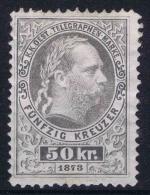 Österreich Telegraph Nr 6  Repaired  (Cat Value 1000 Euro) - Telegraaf