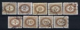 Österreich 1894 Porto 1 - 9 Used - Portomarken