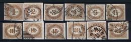 Österreich 1899 Porto 10 - 21 Used - Portomarken