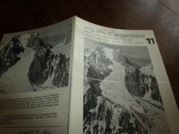 MASSIF Du MONT-BLANC Fiche 11,Cie Des Guides De Chamonix:AIGUILLE D'ARGENTIERE Arête Du Jardin,plateau Infér Face Sud - Other Collections