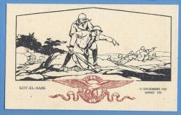 Fascismo  - Combattimento  A GOOT EL SASS  1927 - Illustatore Barberris - Altre Guerre