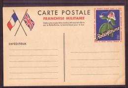 """C.P Franchise Militaire """"BOLDOFLORINE"""",vierge. - Publicités"""