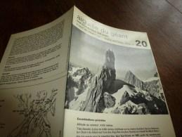 MASSIF Du MONT-BLANC Fiche 20 ,par Compagnie Des Guides De Chamonix: AIGUILLE DU GEANT Voie Normale Face Sud-Ouest - Autres Collections