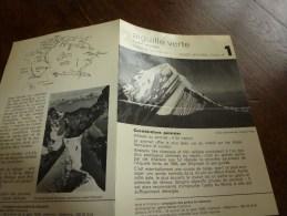 MASSIF Du MONT-BLANC Fiche 1 ,par Compagnie Des Guides De Chamonix: AIGUILLE VERTE Couloir Whymper - Other Collections