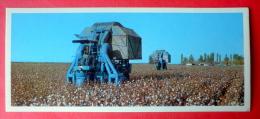 Cotton Fields - Harvester - 1974 - Tajikistan USSR - Unused - Tadjikistan