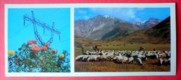 On A Mountain Pasture - Sheep - 1974 - Tajikistan USSR - Unused - Tadjikistan