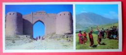 Hissar Fortress Near Dushanbe , Folk Dance - People In Folk Costumes - 1974 - Tajikistan USSR - Unused - Tadjikistan