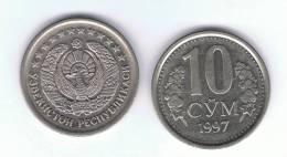 UZBEKISTAN -  10 Som  1997  KM10 - Uzbenisktán