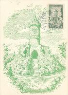 D17788 CARTE MAXIMUM CARD 1956 SAAR - WINTERBERGDENKMAL SAARBRÜCKEN CP ORIGINAL - READ - Architecture