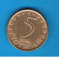 BULGARIA - 5 Stotinki  2000   KM239 - Bulgaria