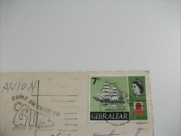STORIA POSTALE FRANCOBOLLO COMMEMORATIVO GIBRALTAR GIBILTERRA Scimmie Vedutine - Gibilterra