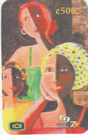 COSTA RICA - IV Festival Africana/Esperanza, Painting/Ana Victoria Garro, ICE Tel prepaid card C 500, 08/02, used