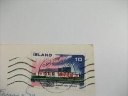 STORIA POSTALE FRANCOBOLLO COMMEMORATIVO Islanda  Island  Krysuvik - Islanda