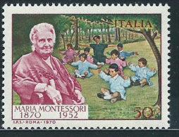Italia 1970 Nuovo** - Montessori - 1961-70:  Nuovi