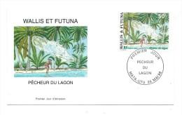 FDC Wallis Et Futuna - Pêcheur Du Lagon - Oblitération 26/05/1998 Mata-Utu (1er Jour) - FDC