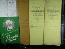 Lot d'environ 20 kg de vieux papiers (plusieurs milliers de pi�ces) Actes notari�s, factures, publicit�s,courriers...