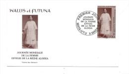 FDC Wallis Et Futuna - Journée Mondiale De La Femme : La Reine Aloisia - Oblitération 05/03/2002  Mata-Utu (1er Jour) - FDC
