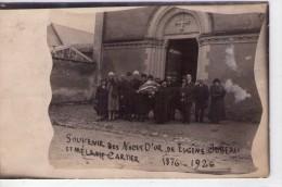 Daumeray.. Carte Photo.. Animée.. Devant L'Eglise.. Souvenir Noces D'Or  Eugène Jubeau Et Mélanie Cartier 1926 Top Carte - Autres Communes