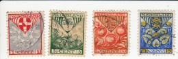 Nederland Cat NVPH 199/202 Gestempeld Prijs 11.00 Euro - 1891-1948 (Wilhelmine)