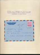 KATANGA INCOMING MAIL FROM VERVIERS VIA KITWE RHODESIA TAXED AT THE ARRIVAL