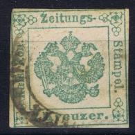 Österreich  1853 Mi Nr 1 Zeitungsstempelmark Used - 1850-1918 Imperium