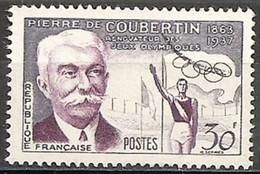 France  1956  Oblitéré  N° 1088   Pierre De Coubertin - France