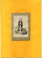 - GRAN SACERDOTE . EAU FORTE DU XIXe S. . DECOUPEE ET  COLLEE  SUR PAPIER - Religion & Esotérisme