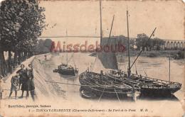17 - TONNAY  CHARENTE - Le Port Et  Le Pont - 2 Scans - France
