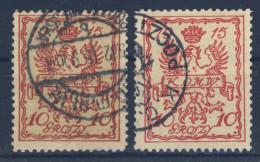 Polen Stadtpost Warschau Michel Nr. 2 a/b gestempelt used