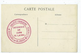 CPA.Le Pont D'Hirson Détruit Par Les Allemands.Cachet:Société Françaises De Secours Aux Blessés Militaires. - Seals Of Generality