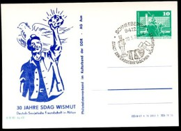 Sost. VOLKSKUNST Schneeberg Auf DDR PP16 B2/001 Privat-Postkarte WISMUT AUE 1976  NGK 4,00 € - Sin Clasificación