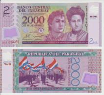 Paraguay 2000 Guaranies 2009 Pick 228 UNC - Paraguay