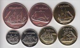 SAKHALIN Set 7pcs 2014 Ships, Unusual Coinage - Monete