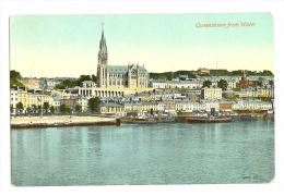 1900s? Ireland Cork, Queenstown (Cobh) From Water Pc Unused, Paddle Steamers - Cork