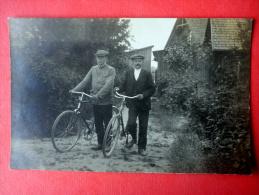 Estonian Men - Bicycle - Old Photo Postcard - Estonia - Unused - Cartoline