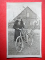 Estonian Lady - Bicycle - Old Photo Postcard - Estonia - Unused - Cartoline
